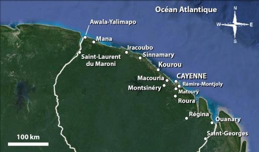 Carte littoral Guyane vdéf