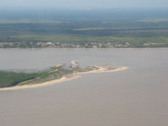 Flèche sableuse à l'estuaire de la Mana 2003 © CProisy, IRD, UMR AMAP